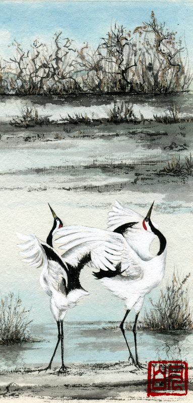 gallery/Members_Paintings/Gwendolynn_Heley/Manchurian%20Cranes%20-%20Detail%20from%20Seven%20Dancing%20Cranes%20on%20a%20Beach%20Chinese%20watercolour%20and%20ink%20on%20double%20xuan%20rice%20paper.jpg